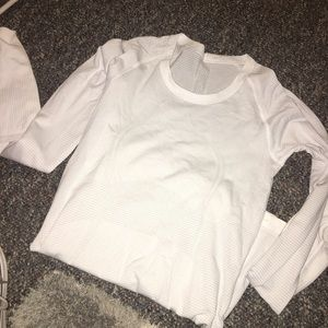 White swiftly tech long sleeve